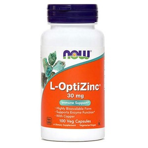 NOW L-OptiZinc (100 cinkovih kapsul)