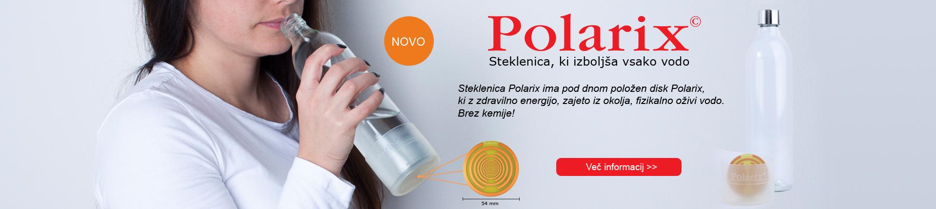 Steklenica Polarix izboljša vodo