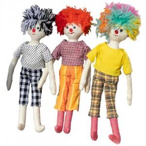 Pajacek – terapevtska lutka za fantke in punčke (37 cm)