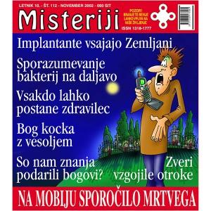 Misteriji 112 (november 2002)