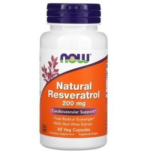 Naravni resveratrol (200 mg, 60 kapsul)