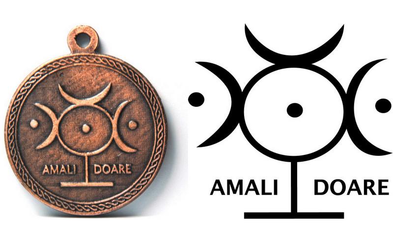 Amulet z vilinskim simbolom amali doare
